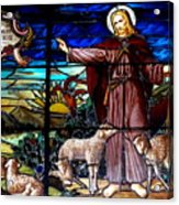 Jesus And Lambs Acrylic Print