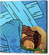 Jesus Falls Acrylic Print