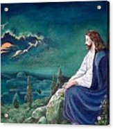 Jesus Praying Acrylic Print