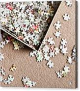 Jigsaw Puzzle Acrylic Print