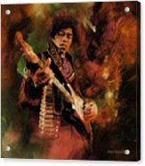 Jimi Hendrix 01 Acrylic Print
