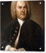 Johann Sebastian Bach, German Baroque Acrylic Print