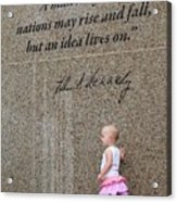 John F. Kennedy Memorial Acrylic Print