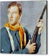 John Wayne, Vintage Hollywood Legend Acrylic Print