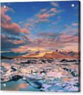 Jokulsarlon Glacier Lake - Iceland Acrylic Print
