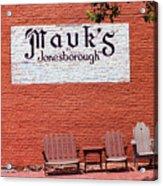 Jonesborough Tennessee Mauk's Store Acrylic Print