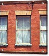 Jonesborough Tennessee Three Windows Acrylic Print