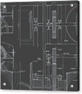 Jonval Turbines - Fairmount Waterworks - Philadelphia, Pa - Circa 1812 Acrylic Print