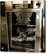 Jorge Rivero Movie Theater Poster Us/mexico Border Town Naco Sonora Mexico Acrylic Print