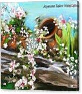 Joyeuse Saint Valentin  Acrylic Print