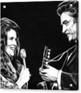 June Carter And Johnny Cash Collection Acrylic Print