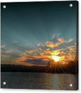 June Sunset On Nicks Lake Acrylic Print
