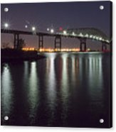 Key Bridge At Night Acrylic Print