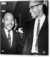King And Malcolm X, 1964 Acrylic Print