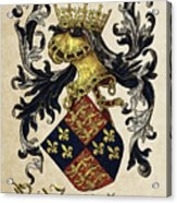 King Of England Coat Of Arms - Livro Do Armeiro-mor Acrylic Print by Serge Averbukh