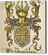 Kingdom Of Jerusalem Coat Of Arms - Livro Do Armeiro-mor Acrylic Print