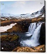 Kirkjufellsfoss Waterfalls Iceland Acrylic Print