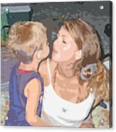 Kissing Mommy2 Acrylic Print