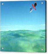 Kitesurfing Acrylic Print