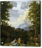 Klassische Landschaft Mit Arkadischer Acrylic Print