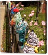 Knit Fence Protectors Acrylic Print