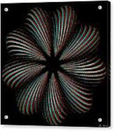 Knotplot 9 - Use Red-cyan 3d Glasses Acrylic Print