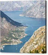 Kotor Bay In Montenegro Acrylic Print