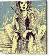 La Femme Qui Fume Apres Kevin Montague Acrylic Print