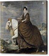 La Reina Isabel De Borbn A Caballo Diego Rodriguez De Silva Y Velazquez Acrylic Print