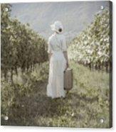 Lady In Vineyard Acrylic Print by Joana Kruse