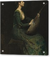 Lady With A Lute Acrylic Print