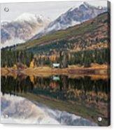 Lake Cabins In Fall Acrylic Print