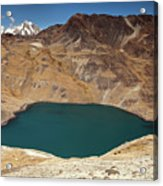 Lakeview From Pico Austria Pass Acrylic Print