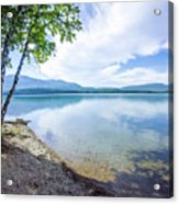 Lake Mcdonald In Glacier National Park Montanaa Acrylic Print