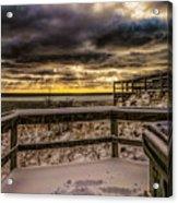 Lake Mi Sunset 5 Acrylic Print