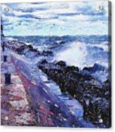 Lake Michigan Waves Acrylic Print