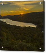Lake Of The Clouds Sunrise Acrylic Print