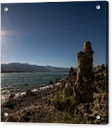 Lakefront And Sunset At Mono Lake, Eastern Sierra, California, U Acrylic Print