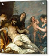 Lamentation Over The Dead Christ Acrylic Print