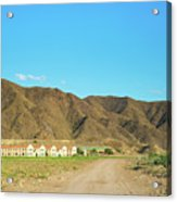 Landscape Desert In Almeria, Andalusia, Spain Acrylic Print