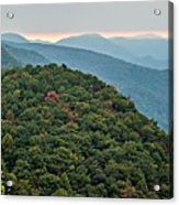 Landscape View At Cedar Mountain Overlook Acrylic Print