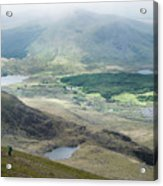 Landscape View Of Llyn Cwellyn And Moel Cynghorion In Snowdonia  Acrylic Print