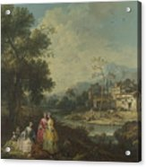 Landscape With A Group Of Figures Acrylic Print