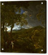 Landscape With Elijah And The Angel Acrylic Print