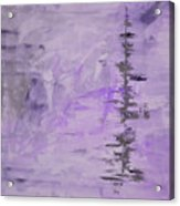 Lavender Gray Abstract Acrylic Print