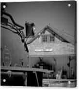 Laws Depot And Locomotive 9 Acrylic Print