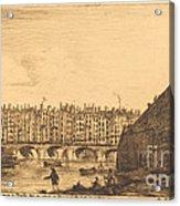 Le Pont-au-change, Paris, Vers 1784 Acrylic Print