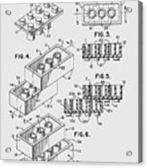 Lego Toy Building Brick Patent  Acrylic Print