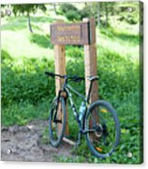 Leisure Cross Contry Cyclists Acrylic Print