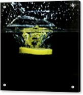 Lemon Dropped Into Water  Acrylic Print